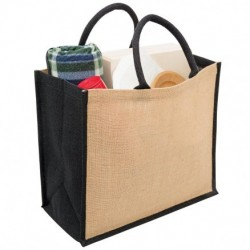Eco Jute Tote with Wide Gusset - 1184