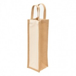 Eco Jute 1 Bottle Wine Bag - 1195