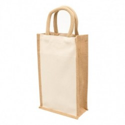 Eco Jute 2 Bottle Wine Bag - 1196