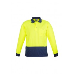 Hi VIs Basic Spliced L/S Polo - ZH232