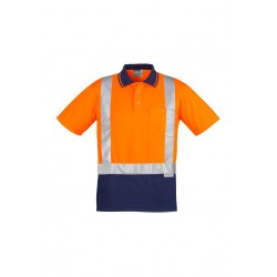 Hi Vis Spliced S/S Polo - Shoulder Taped - ZH233