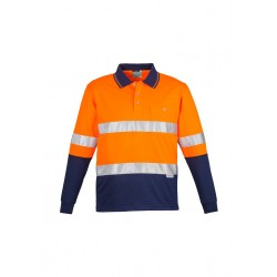 Hi Vis Spliced L/S Polo - Hoop Taped - ZH235