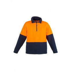 Unisex Day Only Fleece Jumper Orange/Navy - ZT460