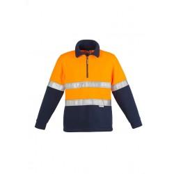 Hi Vis Fleece Jumper - Hoop Taped Orange/Navy - ZT461