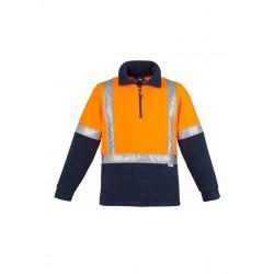 Hi Vis Fleece Jumper - Shoulder Taped Orange/Navy - ZT462
