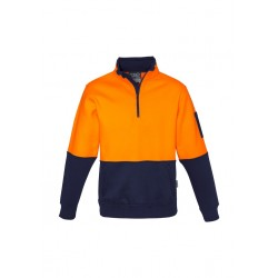 Hi Vis Half Zip Pullover Orange/Navy - ZT466