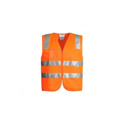 Hi Vis Full Zip Vest Orange - ZV998