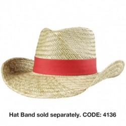 Cowboy Straw Hat - 3969