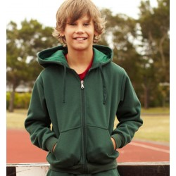 KIDS ZIP THROUGH FLEECE HOODIE - CJ1063