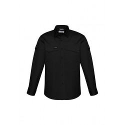 Mens Rugged Cooling Mens L/S Shirt Black - ZW400