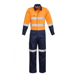 Mens Rugged Cooling Taped Overall Orange/Navy - ZC804