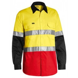 3M TAPED HI VIS COOL LIGHT WEIGHT THREE TONE LONG SLEEVE SHIRT - BS6697T