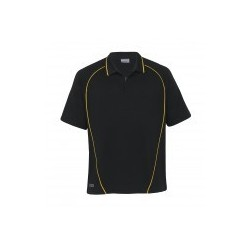 Dri Gear Piped Ottoman Instinct Polo Black/Gold - DGPO