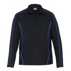 Dri Gear Reflex Zip Pullover Black/Royal - DGRFZ