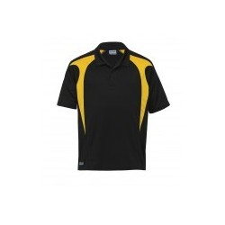 Dri Gear Spliced Zenith Polo Black/Gold - DGSP