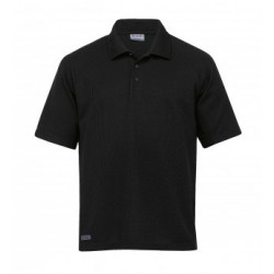 Dri Gear Summit Coolmax Polo Black - DGSUP