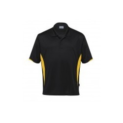 Dri Gear Zone Polo Black/Gold - DGZP