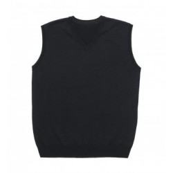 Merino Fully Fashioned Vest Black - Mens - EGMFV
