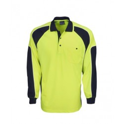 Hi Vis Cooldry Side Panel Polo, L/S - P86