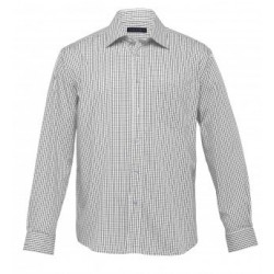 The Folio Check Shirt White/Black - Mens - TF