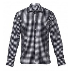 The Hartley Check Shirt Black/White - Mens - THC