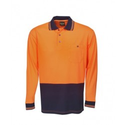 Light Weight Hi Vis Cooldry Polo, L/S - P61