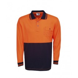 Hi Vis Cooldry Polo, Long Sleeve - P81
