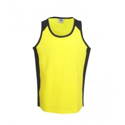 100% Cotton Hi Vis singlet - S84