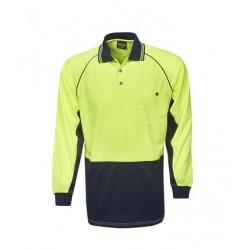 Hi Vis Cooldry Raglan Sleeve Polo, L/S - P63