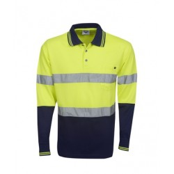 D/N, Hi Vis Cooldry Polo, Long Sleeve - P91