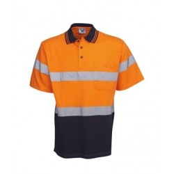 100% Cotton Hi Vis S/S polo, D/N Use - P96