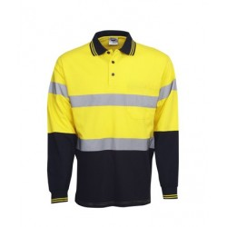 100% Cotton Hi Vis L/S polo, D/N Use - P95