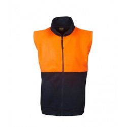 Hi Vis full zipped Polar Fleece Vest - F84