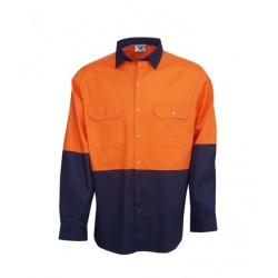 Hi Vis Cotton Drill Work Shirt - C83