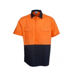 190g Hi Vis Drill Shirts, S/S, Day Use - C84