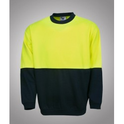 Hi Vis P/C Fleecy Sweat, crew neck, - F81