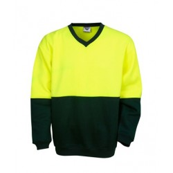 Hi Vis P/C Fleecy Sweat, V- neck, - F82