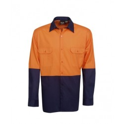 155g Hi Vis Drill Shirts, L/S, Day Use - C81