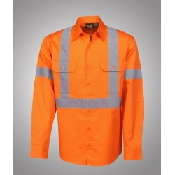 155g Hi Vis Twill Shirts, L/S, D/N Use - C95