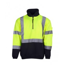 Hi Vis Fleecy Jumper, H pattern R-tape - F95