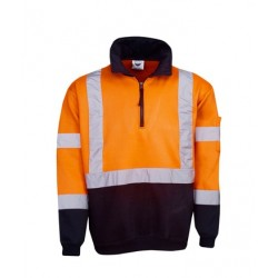 Hi Vis Fleecy Jumper, X pattern R-tape - F96