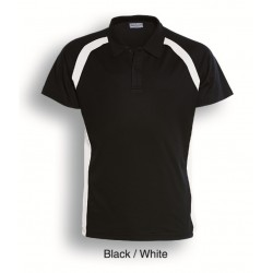 TEAM ESSENTIALS-MENS SHORT SLEEVE CONTRAST PANEL POLO - CP0919