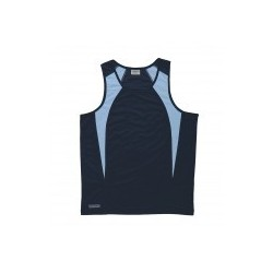 Dri Gear Spliced Zenith Singlet Navy/Sky - Womens - WDGSS