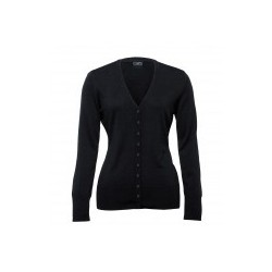 Merino Cardigan Black - Womens - WEGMCD