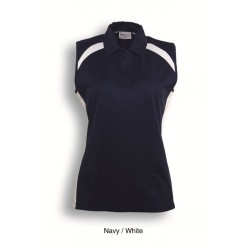 TEAM ESSENTIALS- LADIES SLEEVELESS CONTRAST POLO - CP0931