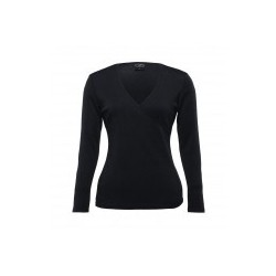 Merino Crossover Top Black - Womens - WEGMX