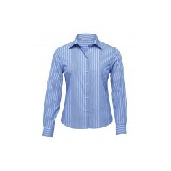 The Euro Corporate Stripe Shirt Blue/White - Womens - WES