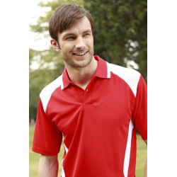 ADULTS HONEY COMB CONTRAST PANEL POLO - CP1215