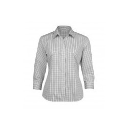 The Folio Check Shirt White/Black - Womens - WTF