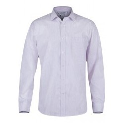 Mens Bayview Long Sleeve White/Pink - 1906L